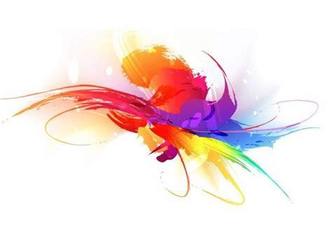 XOO Plate :: Artistic Colorful Paint Stroke Vector