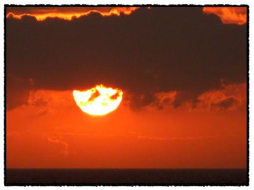 sunset in the land of often midnight sum