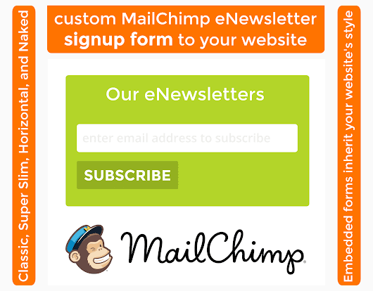 Add a custom MailChimp signup form to your website for $50