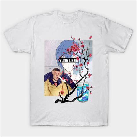 yung lean anime vaporwave aesthetics yung lean  shirt