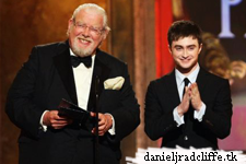 Daniel presenting at the Tony Awards with Richard Griffiths