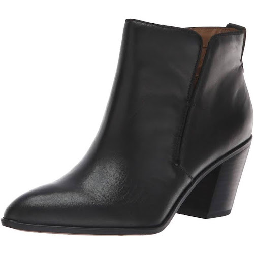 Franco Sarto Women's Orchard Leather Booties - Black - Size 8.5