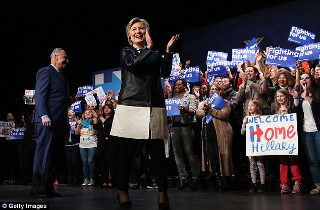 None of the superdelegates supporting Hillary Clinton (pictured) from New York said they would ever switch over to Bernie Sanders, the New York Daily News discovered