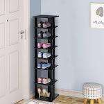Costway 7-Tier Shoe Rack Practical Free Standing Shelves Storage Shelves -Black