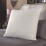 "Pacific Coast Restful Nights European Square 26"" X 26"" Cotton White Pillow"