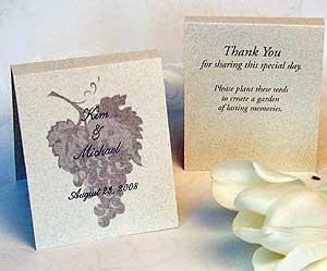 wedding favors flower seed