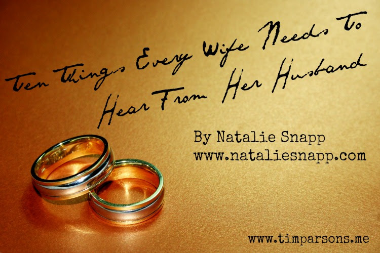 Were Talking Marriage Over On Tims Blog Nataliesnappcom