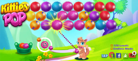 Buy Kitties Pop - Bubble Shooter Style Ready 2 Go Game | AppnGameReskin