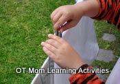 la actividad motora fina con pinzas de la ropa