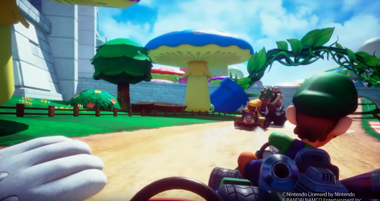 New video shows gameplay from Mario Kart Arcade GP VR screenshot