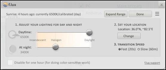 Mẹo chỉnh sáng máy tính tự động theo thời gian trong ngày