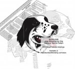 Large Munsterlander Intarsia or Yard Art Woodworking Plan - fee plans from WoodworkersWorkshop® Online Store - The Large Münsterländer is a breed of gun dog originally from the Münster region in Germany. Full size drawings. Bonus half size drawing included. Custom sizing available. dogs,pets,animals,dog breeds
