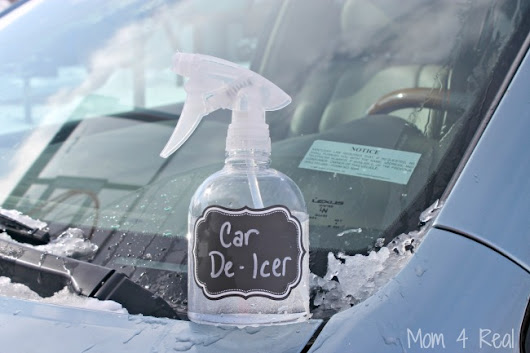 2 Ingredient Homemade Car De-Icer Spray - Removes Ice In Seconds - Mom 4 Real