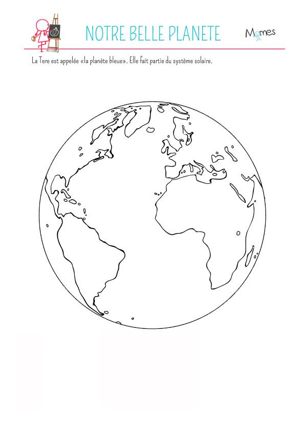 Coloriage La Planète Terre Momesnet