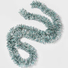 10ft Tinsel Christmas Garland Silver and Blue - Wondershop