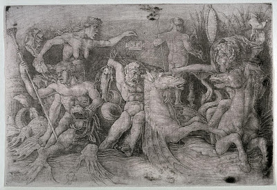 Battle of Tritons etching