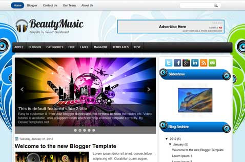 beautymusic-blogger-template