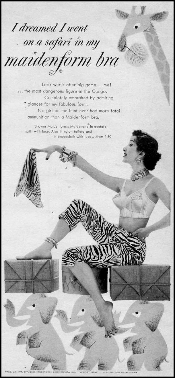 MAIDENFORM BRA WOMAN'S DAY 10/01/1954 p. 11