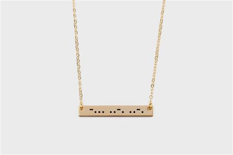 Morse Code Necklace   Baublebible.com