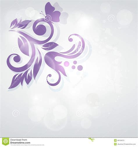 Abstract Floral Design. Wedding Invitation Card. Stock