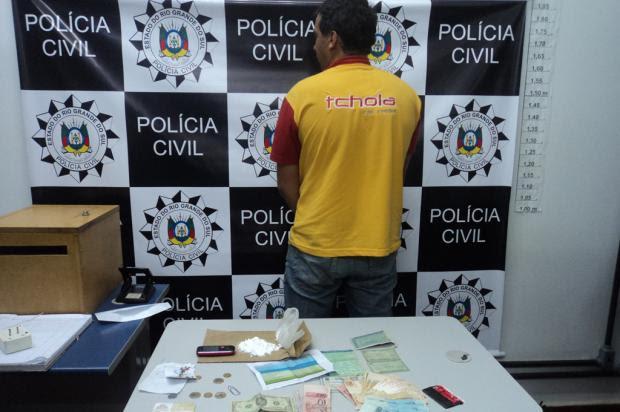 Polícia Civil prende homem apontado como o maior traficante de Vacaria Guilherme A.Z. Pulita/