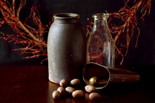 Kitchen Decor Pip Berry Garland Pecans Old Milk by EverAfterImages