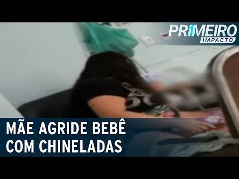 Mãe é flagrada agredindo bebê hospitalizado com chineladas