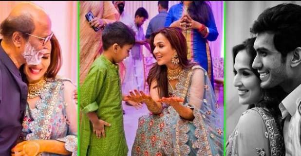 Rajinikanth's daughter Soundarya's latest wedding pictures are blazing on the internet