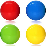 Celling Balls - 4 Sticky Wall Balls - Stress Toys Set   Anxiety and Stress Relief - Gripping Stick Ball (Style: Regular)