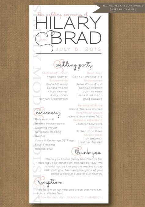 wedding ceremony program, order of events, ceremony