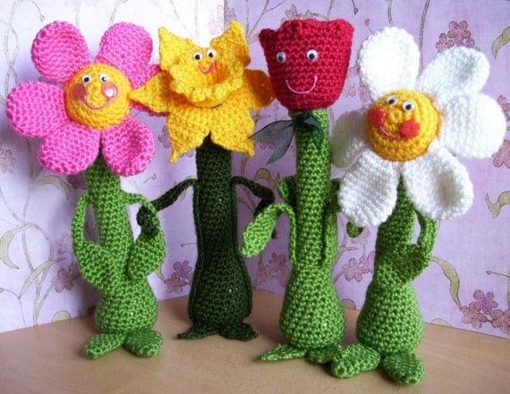 Friendly Flowers...PDF Crochet Pattern