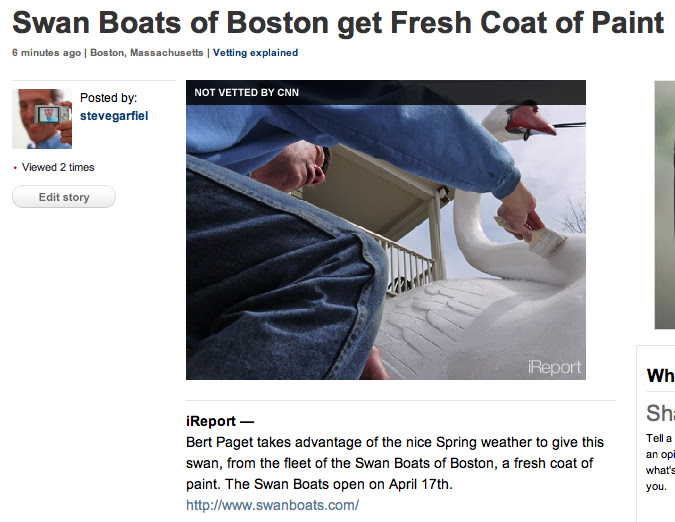 Swan Boats of Boston get Fresh Coat of Paint