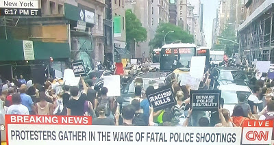 Protesters Gather In New York In The Wake Of Police Shootings Of 2 Black Men (Photos)