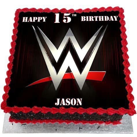 WWE Network Logo Birthday Cake   Flecks Cakes