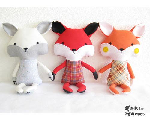Fox Stuffed Toy Softie Sewing Pattern