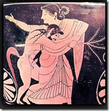 Man and woman on a greek vased