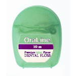 Oraline 10M Mint Premium Dental Floss 72/Cs