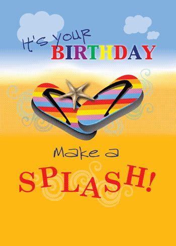 Flip Flops On The Beach Birthday Card. Free Happy Birthday