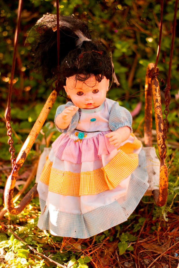 Dolls are nailed to trees, fences and even huts on Isla de las Muñecas