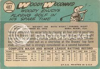 #487 Woody Woodward (back)