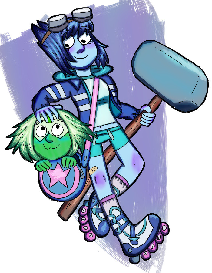 that one lapidot scott pilgrim au, you know the one