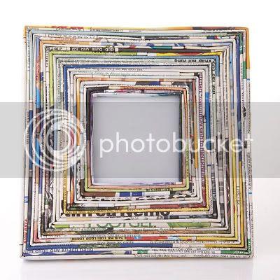 Magazine Paper Photo Frame