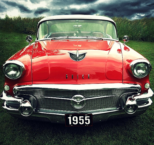 1955 Classic Red Car by Prairie Pics Photography