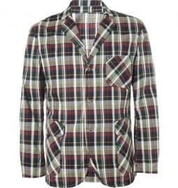 Beams Plus Check Lightweight Cotton Blazer