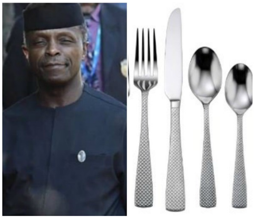 2018 budget: VP Osinbajo's kitchen to spend N17m on cutleries