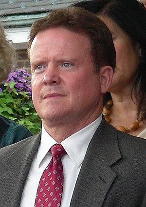 Jim Webb, former Secretary of the Navy, at a c...