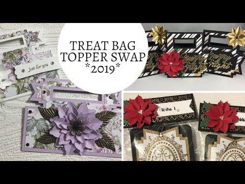 First Swap of 2019 - Treat Bag Topper Swap