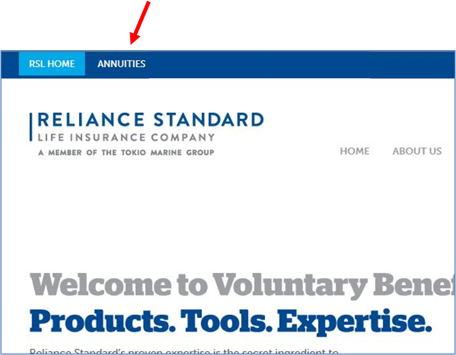 Annuity Agent Login   Reliance Standard