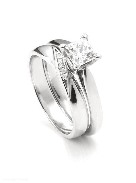 Ribbon twist diamond set wedding ring, shown alongside Ivy