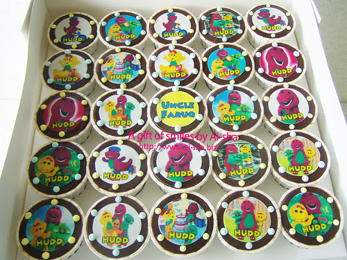 Birthday Cupcake Edible Image Barney